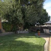 Home staged backyard